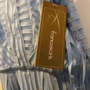 Francesca's Collections Dresses - Light blue lace dress